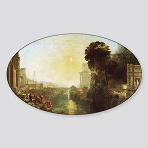 Dido Building Carthage Sticker (Oval)