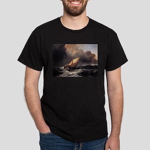 Dutch Boats in a Gale Dark T-Shirt