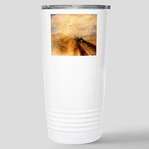 Rain, Steam, and Speed Stainless Steel Travel Mug