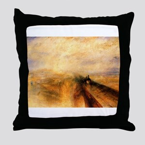 Rain, Steam, and Speed Throw Pillow