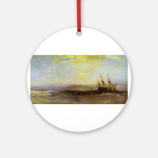 Ship Aground Ornament (Round)