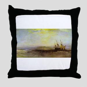 Ship Aground Throw Pillow
