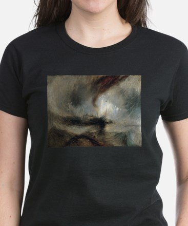 Snow Storm Steam Boat Women's Dark T-Shirt