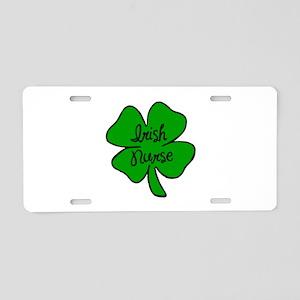 Irish Nurse Aluminum License Plate