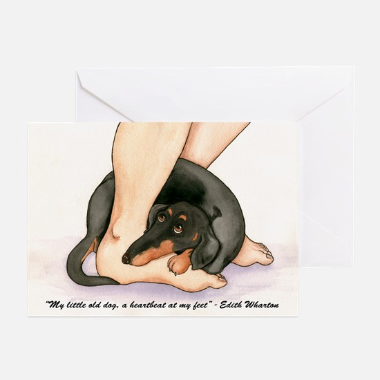 Heartbeart Dachshund Greeting Cards (Pk of 10