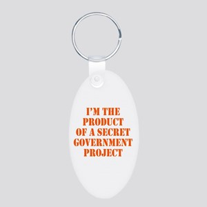 Product of Government Aluminum Oval Keychain
