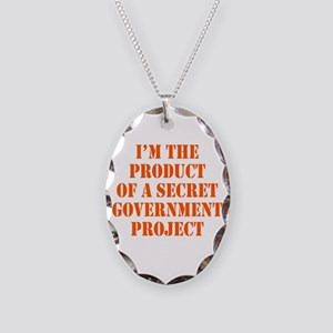 Product of Government Necklace Oval Charm