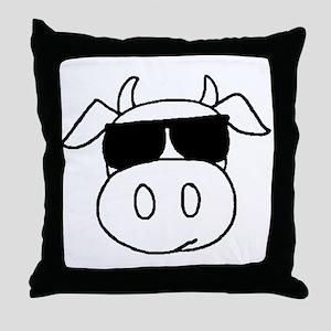 Cow Head Throw Pillow