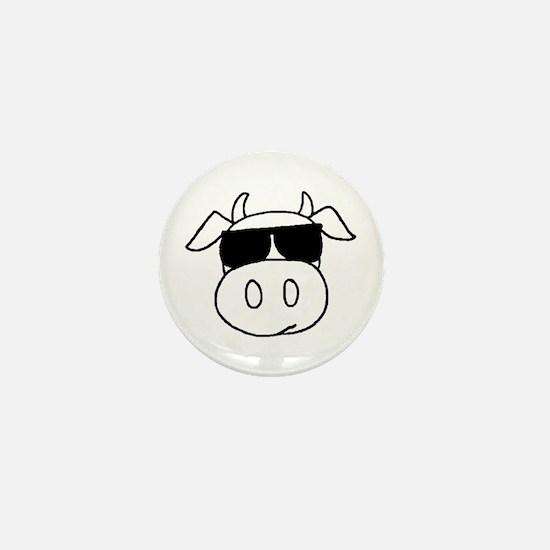 Cow Head Mini Button