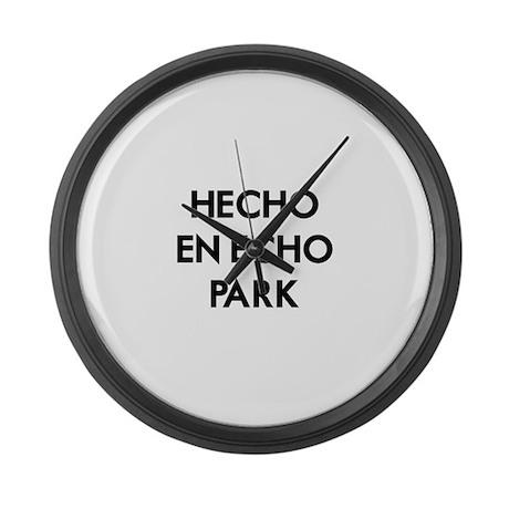 Hecho En Echo Park Large Wall Clock