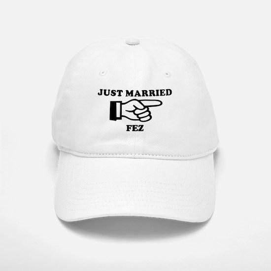 Just Married Fez Baseball Baseball Cap