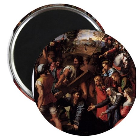 "Christ Falls on the Way to Ca 2.25"" Magnet (100 pa"