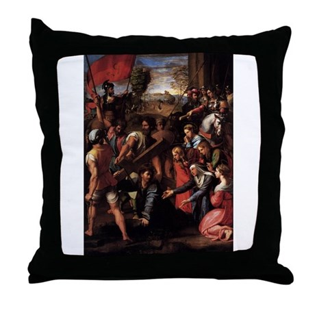 Christ Falls on the Way to Ca Throw Pillow