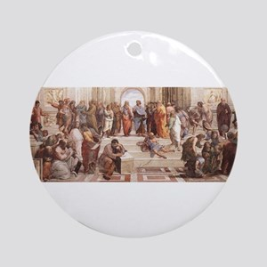 School of Athens Ornament (Round)