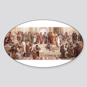 School of Athens Sticker (Oval)
