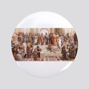 """School of Athens 3.5"""" Button"""