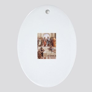 School of Athens Ornament (Oval)
