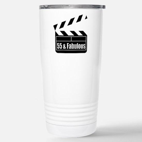 HAPPY 55TH BIRTHDAY Stainless Steel Travel Mug