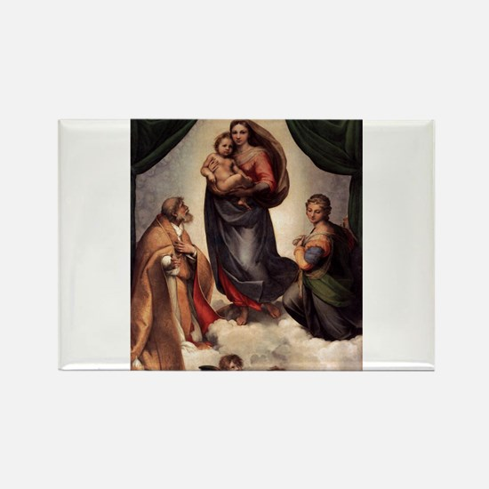 The Sistine Madonna Rectangle Magnet (10 pack)
