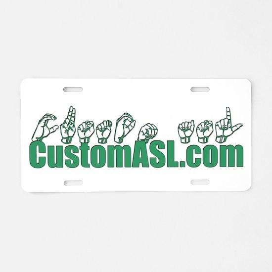 SAMPLE Item Aluminum License Plate
