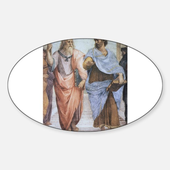 School of Athens (detail - Pl Sticker (Oval)