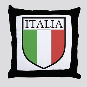 Italia Shield / Italy Flag Throw Pillow