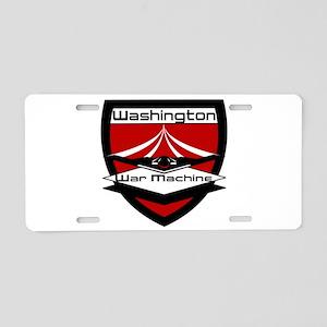 Washington War Machine Aluminum License Plate