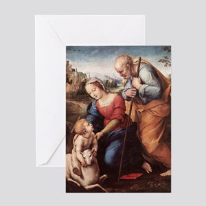 The Holy Family with Lamb Greeting Card