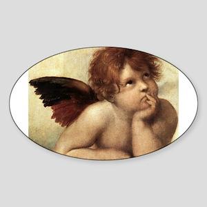 The Sistine Madonna (2nd deta Sticker (Oval)