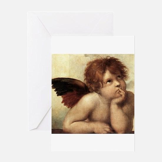 The Sistine Madonna (2nd deta Greeting Card