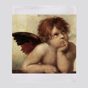 The Sistine Madonna (2nd deta Throw Blanket