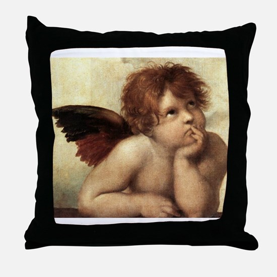 The Sistine Madonna (2nd deta Throw Pillow
