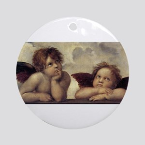 The Sistine Madonna (detail) Ornament (Round)