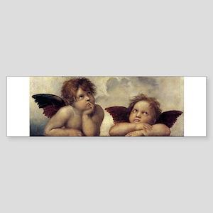 The Sistine Madonna (detail) Sticker (Bumper)