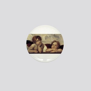 The Sistine Madonna (detail) Mini Button