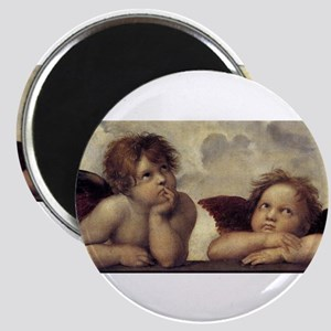 The Sistine Madonna (detail) Magnet