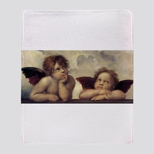 The Sistine Madonna (detail) Throw Blanket