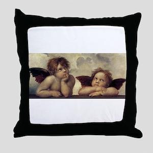 The Sistine Madonna (detail) Throw Pillow