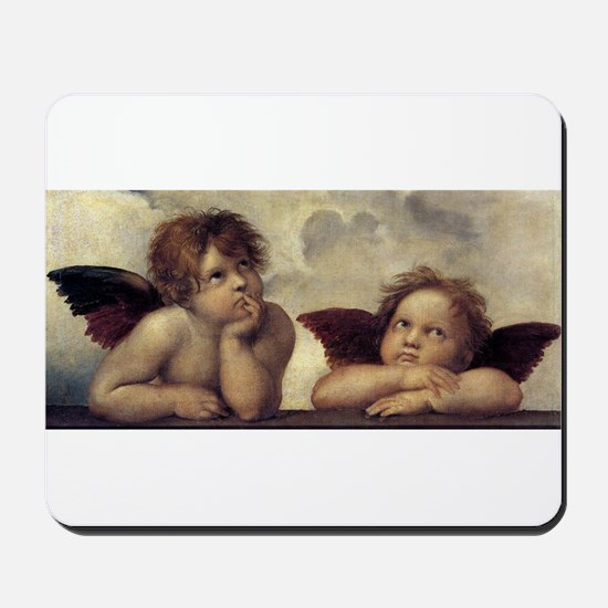 The Sistine Madonna (detail) Mousepad
