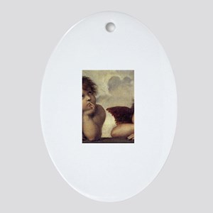 The Sistine Madonna (detail) Ornament (Oval)