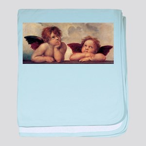 The Sistine Madonna (detail) baby blanket