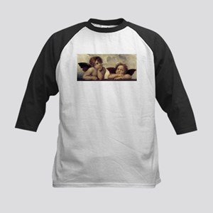 The Sistine Madonna (detail) Kids Baseball Jersey