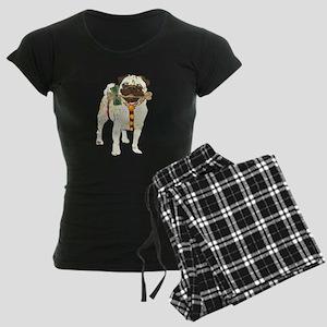 Holiday Pug Women's Dark Pajamas