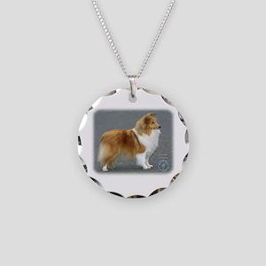 Shetland Sheepdog 8R003D-12 Necklace Circle Charm