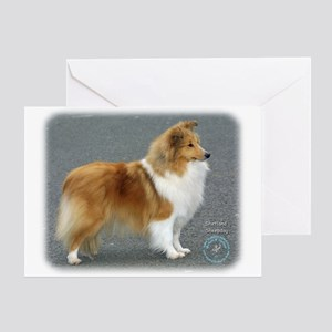 Shetland Sheepdog 8R003D-12 Greeting Card