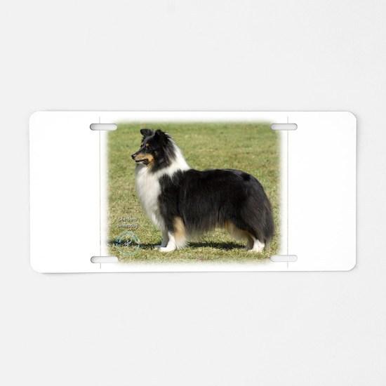 Shetland Sheepdog 9J088D-06 Aluminum License Plate
