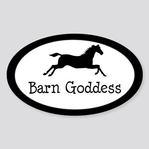 Barn Goddess - Oval Sticker