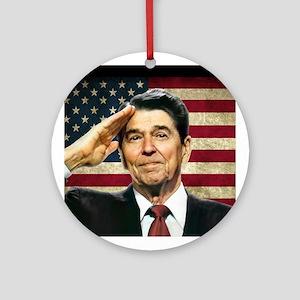 Reagan Flag Ornament (Round)