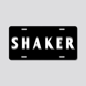 Shaker Aluminum License Plate