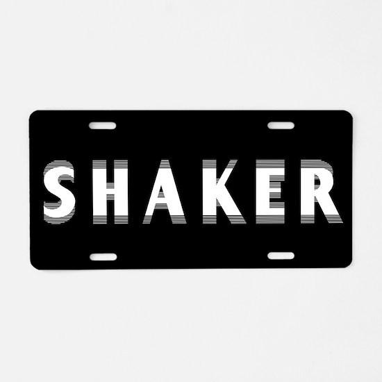 Shaker Aluminum License Plate